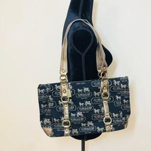 👜✨Coach Bronze Leather Handbag!